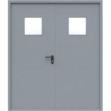 Дверь противопожарная двустворчатая с остеклением EI-60